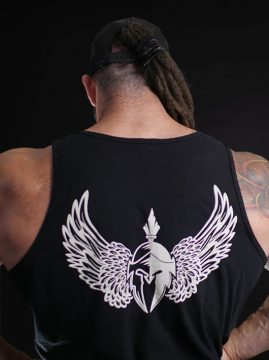 Men's tank tops back view
